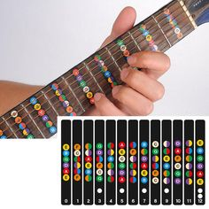 guitar fret notes sticker pdf