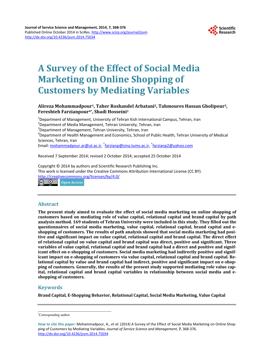 depression links with social media questionnaire survey sample pdf