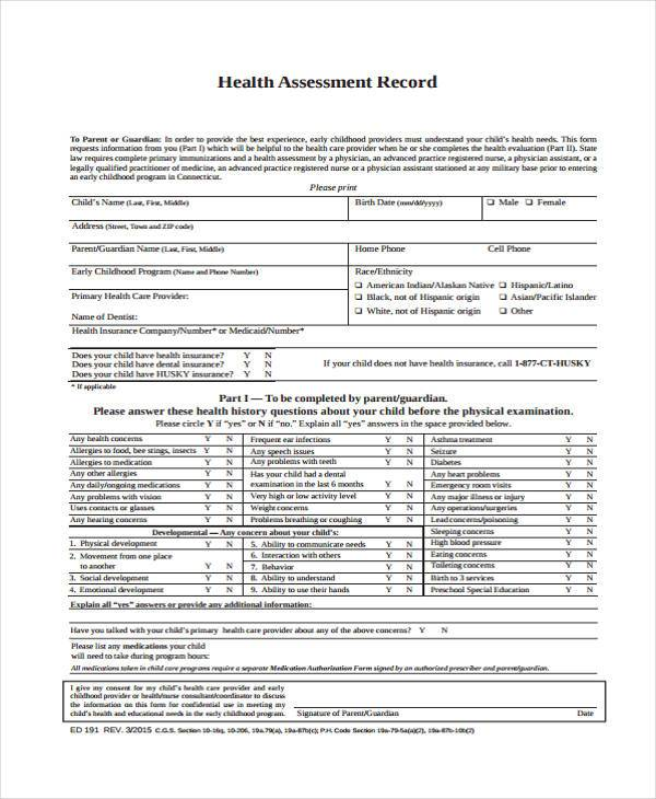 health assessment and screening pdf