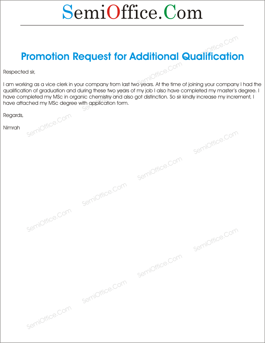 for your qualification of my application