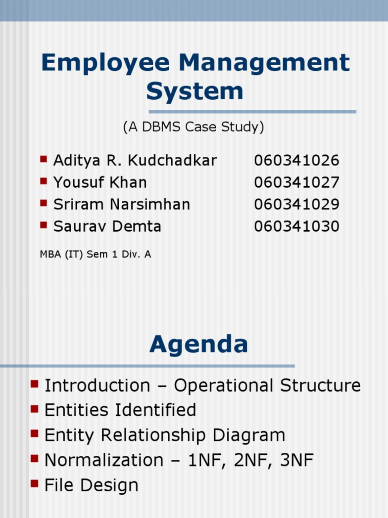 employee management system thesus pdf