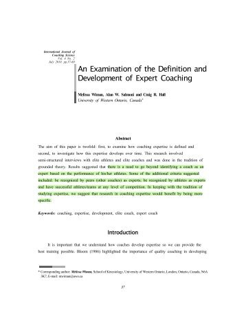 definition of terms in coaching