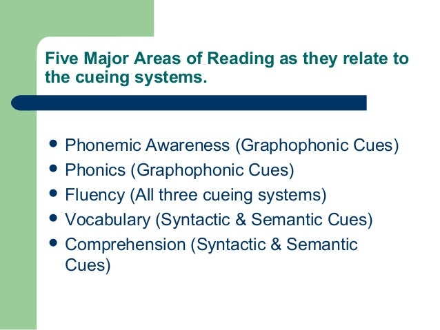 graphophonic cueing system of reading pdf