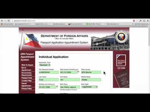 dfa documents for new application