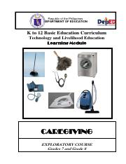 curriculum guide in tle grade 8 beauty care