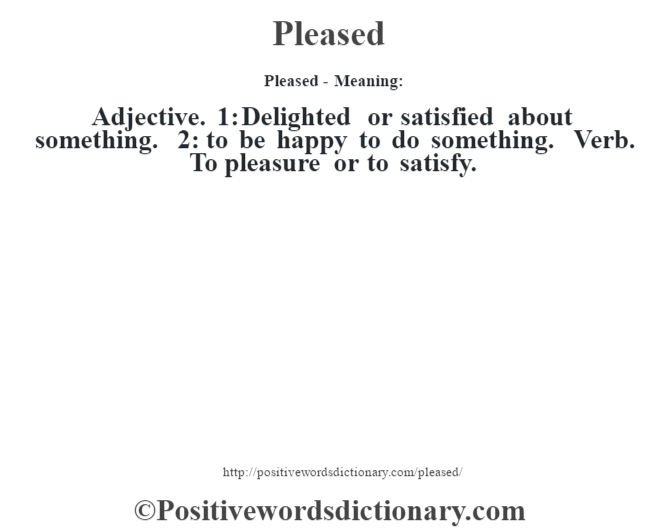 definition of terms of pleasure