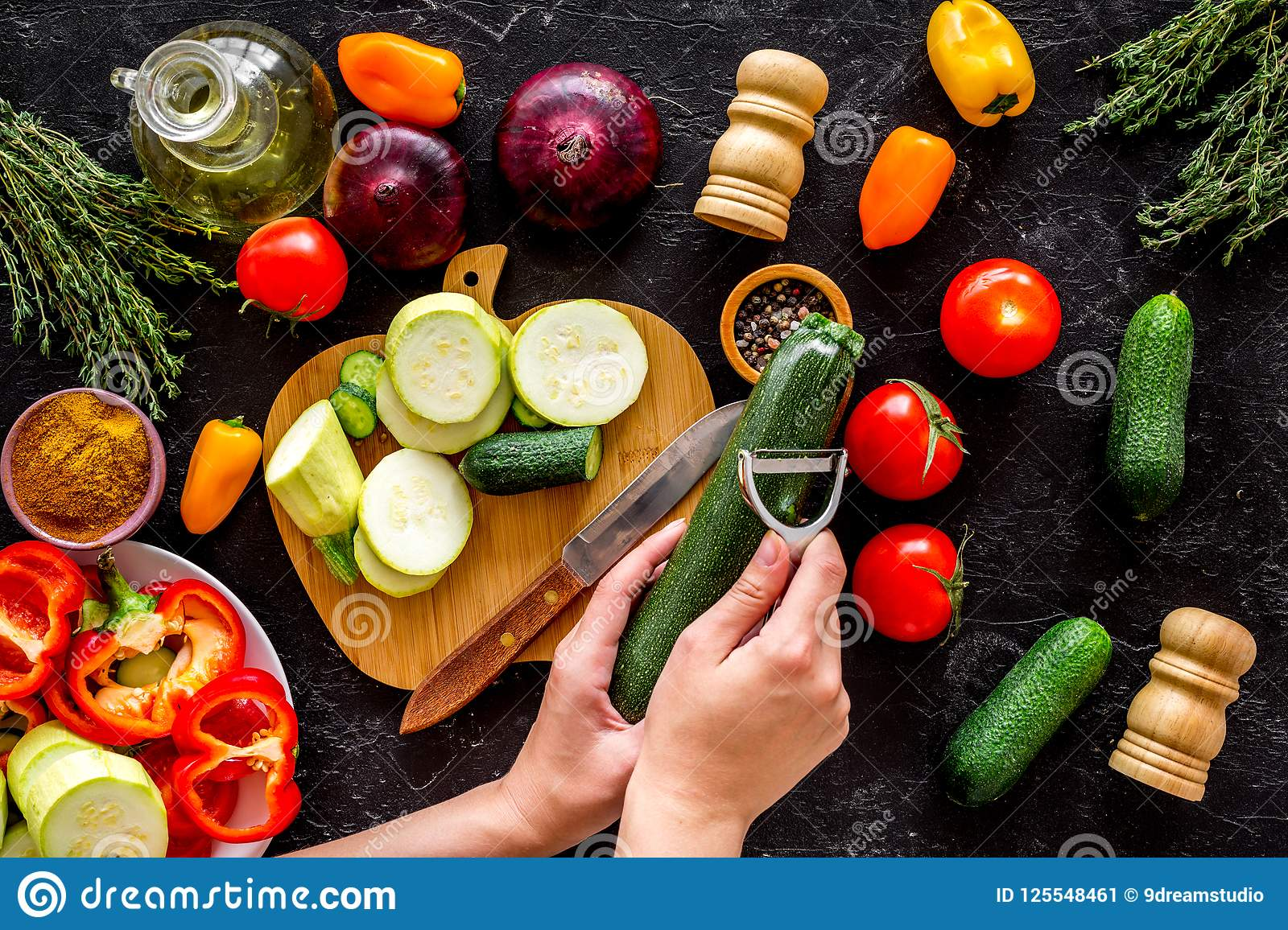 different cuts of vegetables pdf