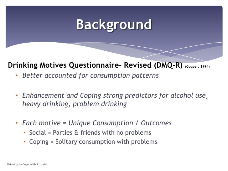 drinking motives questionnaire revised pdf