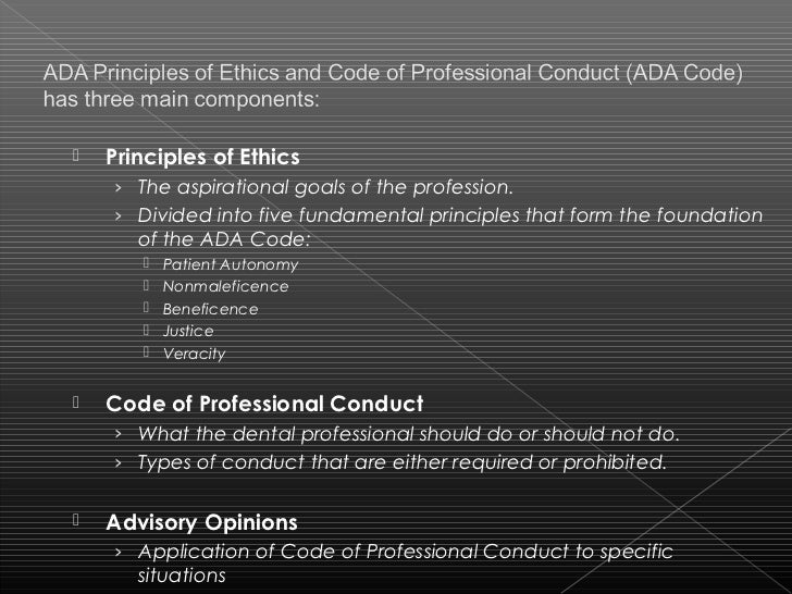 ethical standards and guidelines for professional conduct