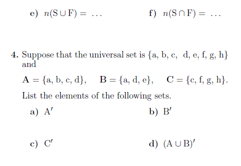 example of union and intersection with solutions pdf