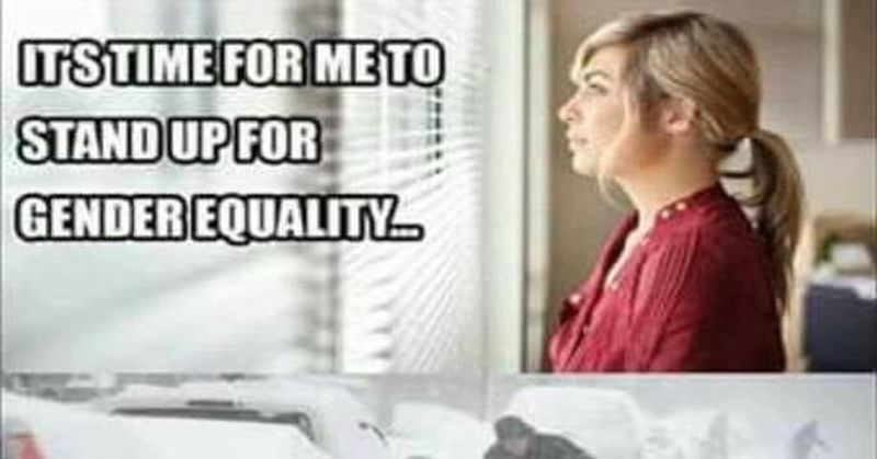 gender equality in terms of laziness