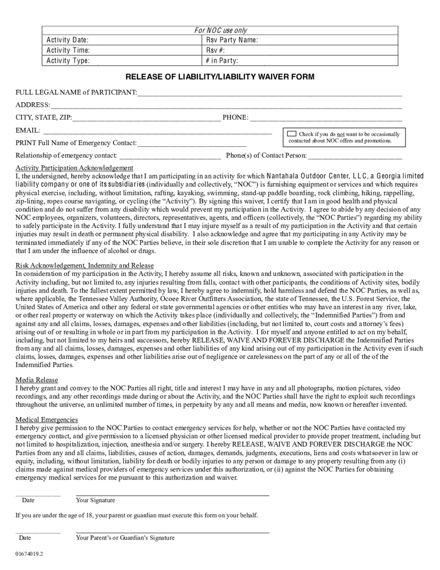 general release of liability form pdf