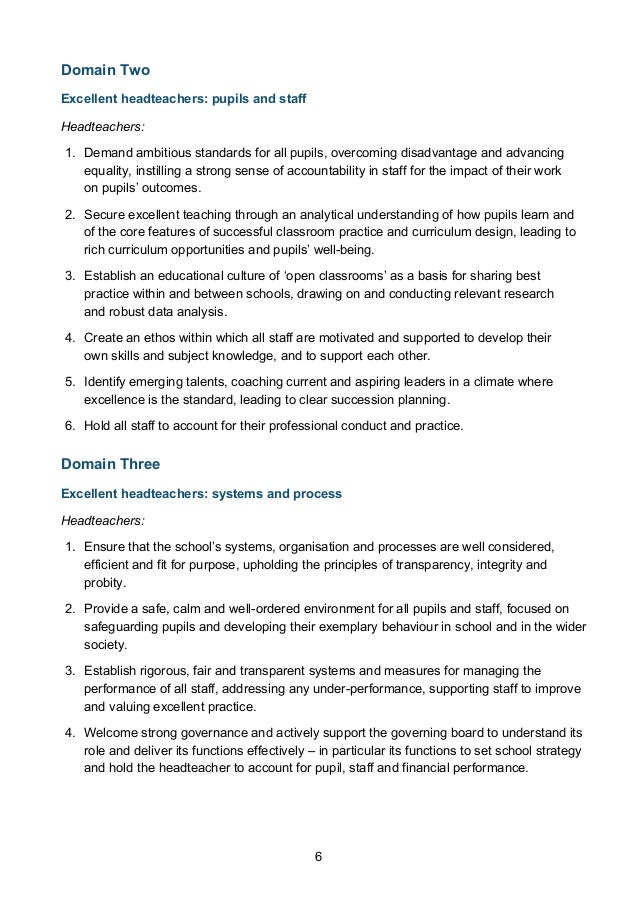 guidelines for ranking of head teachers